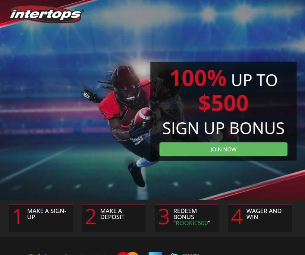 Rookies Coupons: Intertops-promocode-rookie500