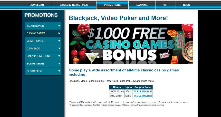 Sloto 1000 Bonus